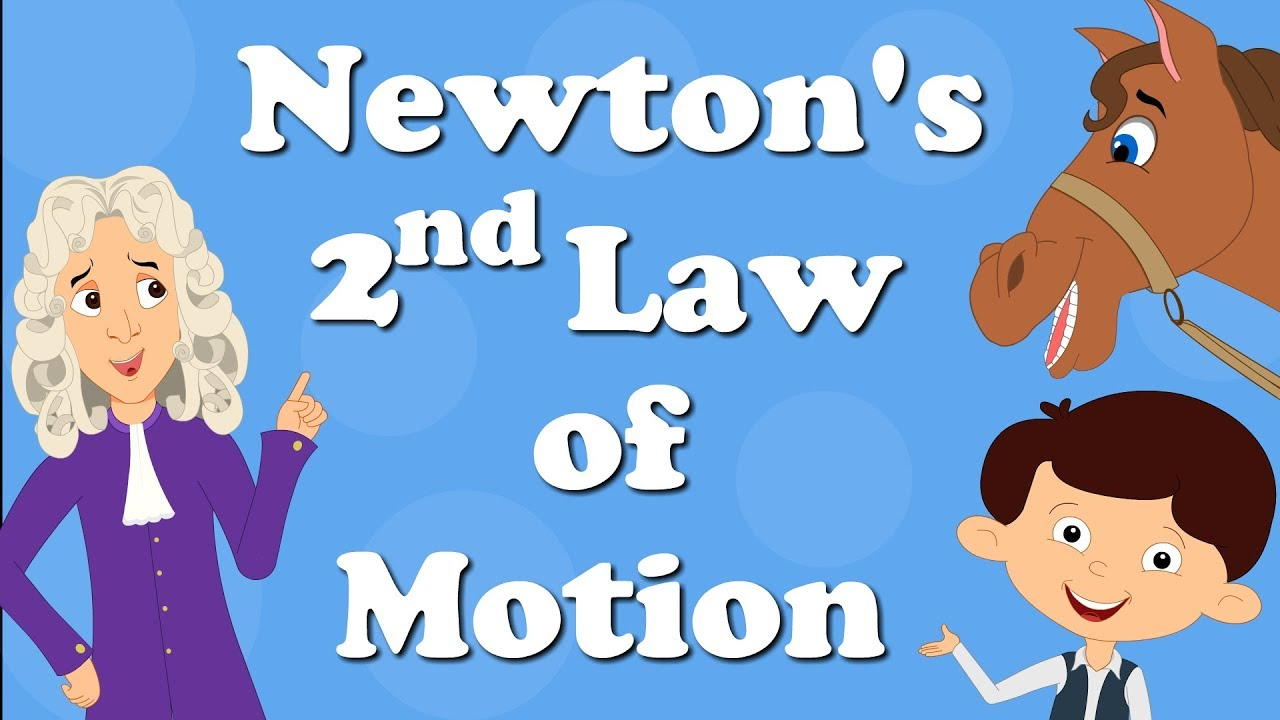newton s second law of motion aumsum kids education motion