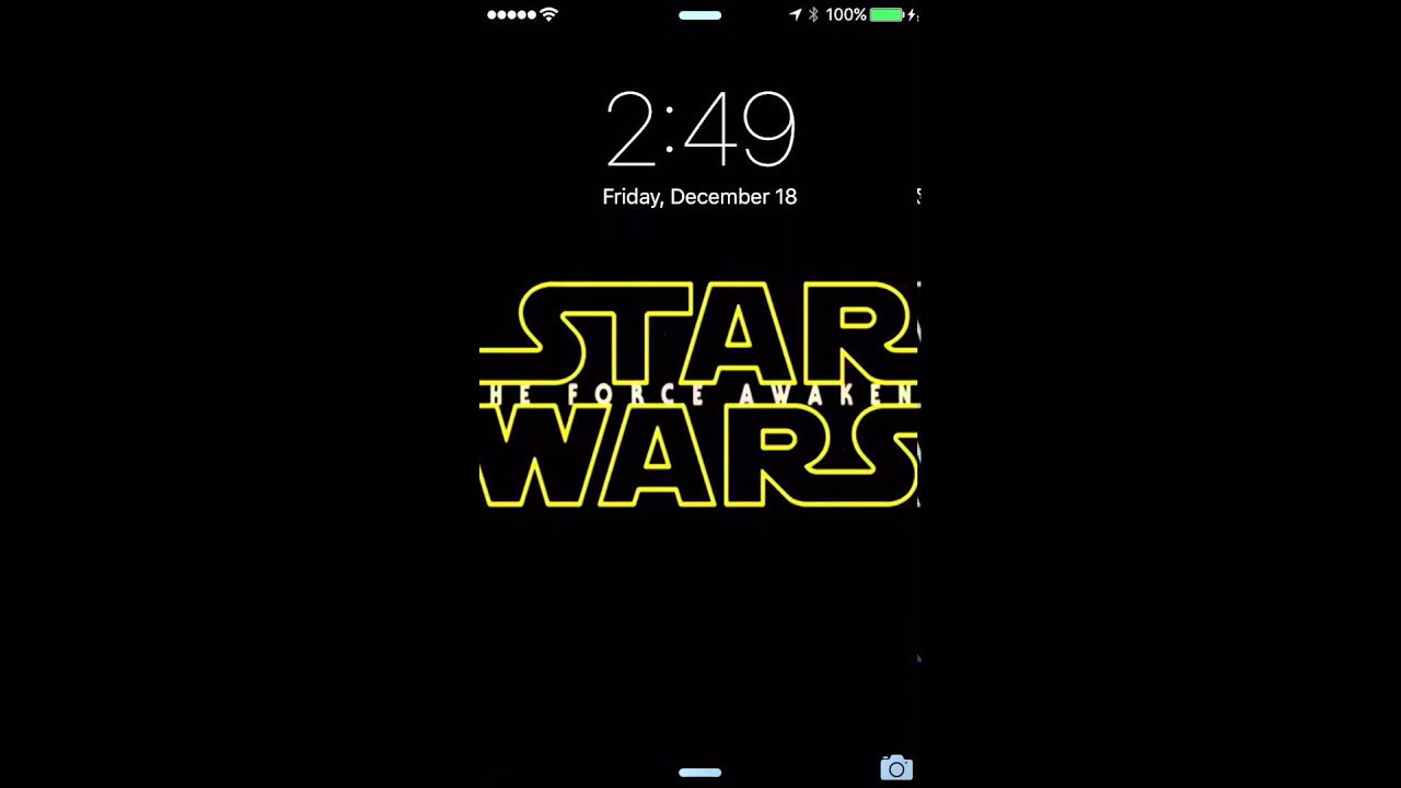iPhone 6S Live Photos LockScreen (STAR WARS 7)