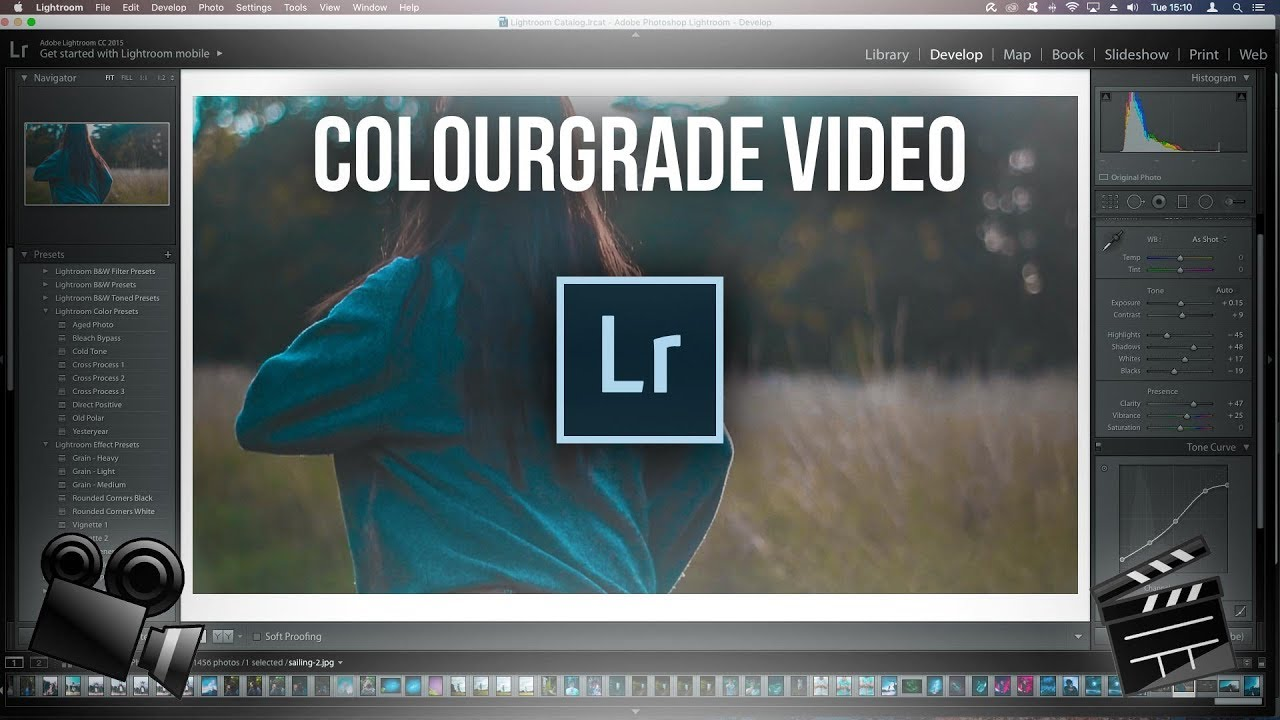 HOW TO COLOUR GRADE VIDEO IN LIGHTROOM | Adobe Lightroom Teal and orange |  TechGenieT3G