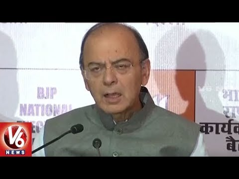 Union Minister Arun Jaitley Speech at BJP National Executive Meeting In Delhi | V6 News