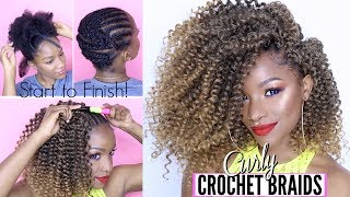 How-To: CURLY CROCHET BRAIDS from Start to Finish! Under $20