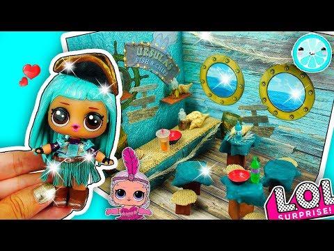 DIY UMA Descendants 2 DOLLHOUSE ROOM for LOL Surprise Dolls, LPS, Shopkins HOUSE Tutorial