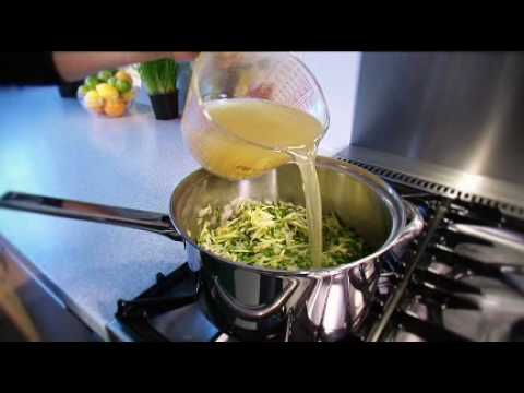 Pea, Courgette & Mint Soup Recipe | Waitrose
