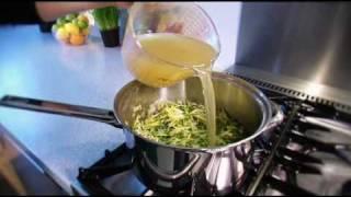 Pea, Courgette & Mint Soup Recipe | Waitrose