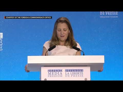 Chrystia Freeland, Day 2 Plenary, Global Conference for Media Freedom