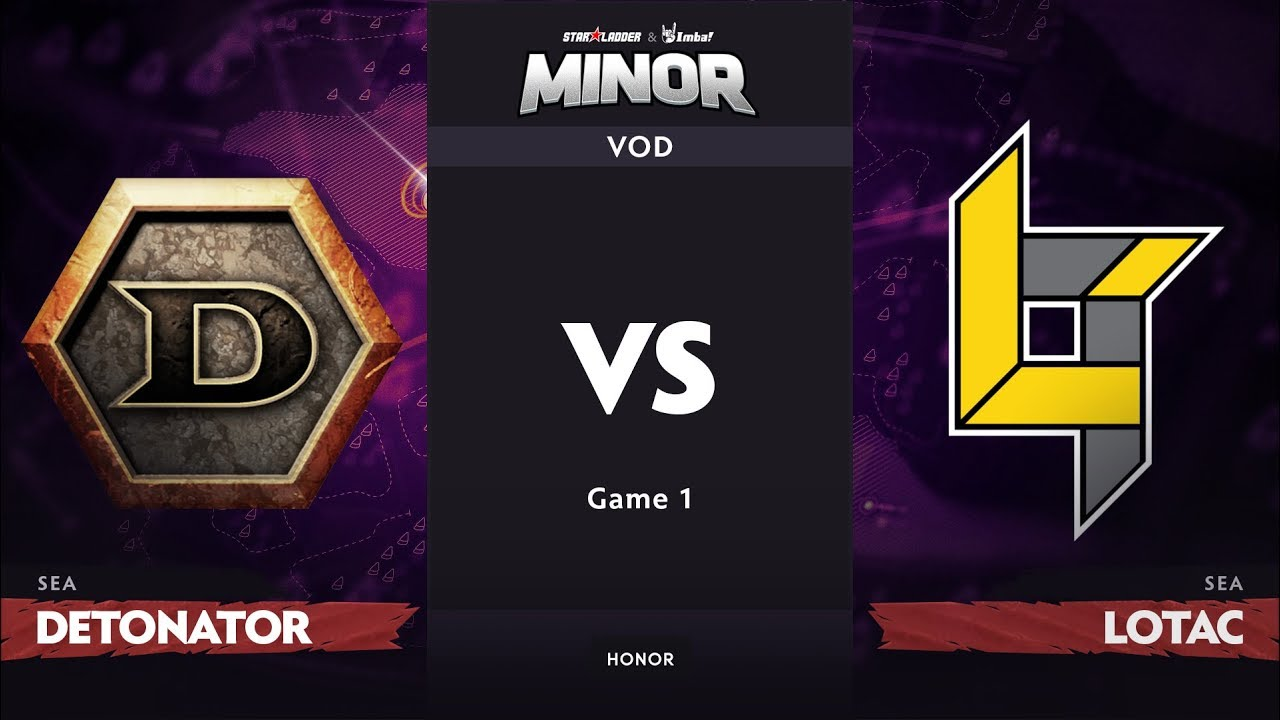 [RU] DeToNator vs Lotac, Game 1, SEA Qualifier, StarLadder ImbaTV Dota 2 Minor