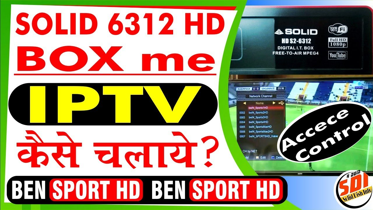 How to play IPTV in Solid 6312 HD set top box