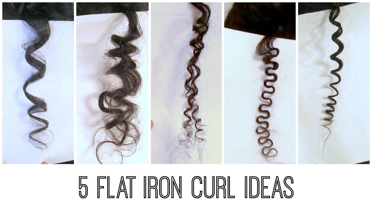 5 Easy Flat Iron Curls  Traditional Bantu Knots Kinky