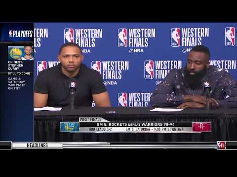James Harden and Eric Gordon | Game 5 Western Conference Finals Press Conference