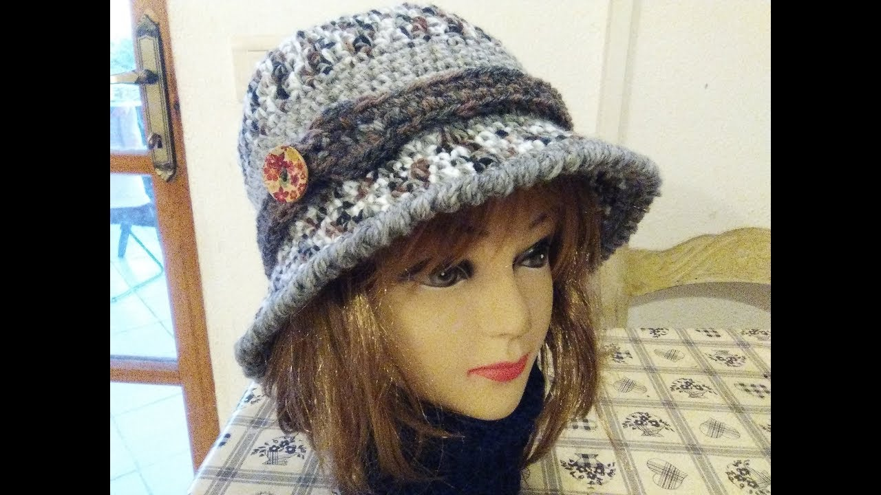 THE PERFECT CLOCHE HAT crochet tutorial any size - YouTube
