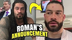 "Roman Reigns LIFE CHANGING Announcement After Being ""BANNED"" By WWE"