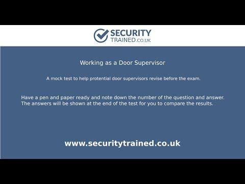 Working as a Door Supervisor | Mock Test