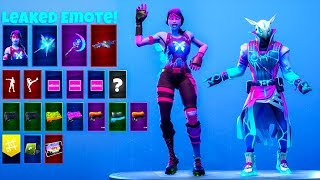 V2 LEAKED Emotes With *NEW* Interstellar SKINS..! Fortnite Battle Royale
