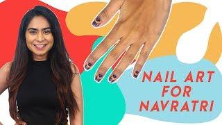 Navratri Nail Art Using A Dotting Tool | Hauterfly