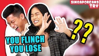 Singaporeans Try: Don't Flinch Challenge