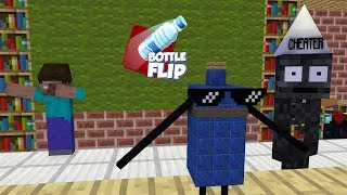 MONSTER SCHOOL : Bottle Flip Challenge!!