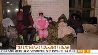 Megérkezett a migránsmenet a magyar határra: ˝Ez provokáció volt˝