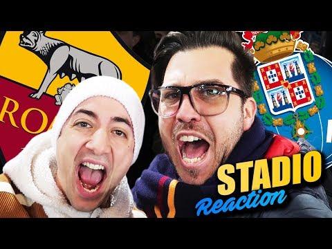 ROMA vs PORTO 2 - 1 REACTION Champions DALLO STADIO OLIMPICO - w/Sodin