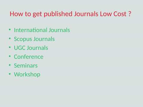 How to paid scopus indexed journals which are very easy to publish?