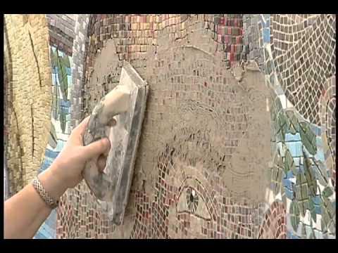 Mirror Mosaic Wall Art douglas mosaic wall install - youtube