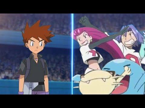 Pokemon Battle USUM Gary Vs Jessie and James Pokémon Rival Vs Team Rocket Trio