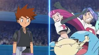 Pokemon Battle USUM Gary Vs Jessie and James (Pokémon Rival Vs Team Rocket Trio)