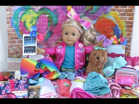 JoJo Siwa ~ American Girl Doll Packing For Vacation