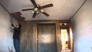 Ceiling Tiles  and paneling removal