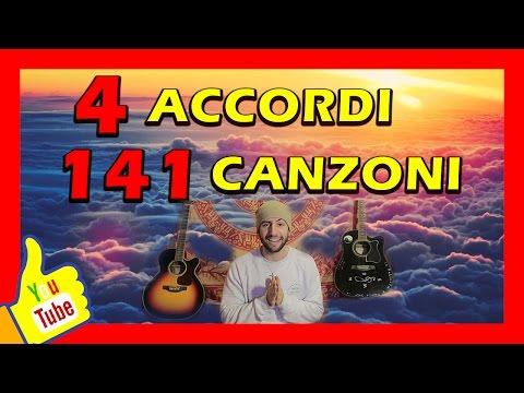 4 Accordi, 141 Canzoni alla Chitarra senza Barrè da Spiaggia! [Principianti]