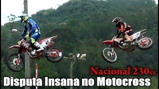Disputa Insana Corrida Nacional 230cc e final polemico no Motocross em Tubarão SC