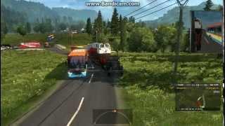 ETS2 1.18.1.3S truk amerika tangan ke atas narik trailer indonesia