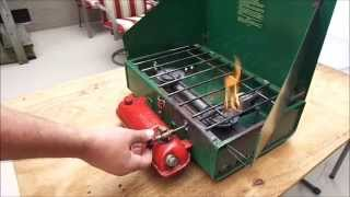 Lighting and Maintaining a Coleman Camp Stove
