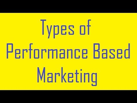 Types of Performance Based Marketing