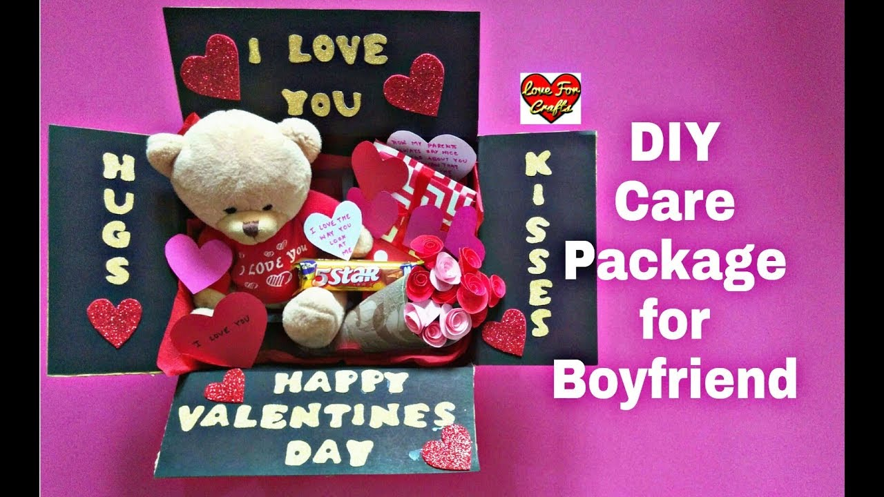 Diy Care Package For Boyfriend Valentine S Day Gift