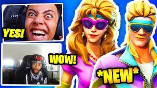 DAEQUAN & MYTH React To *NEW* AEROBIC ASSASSIN And MULLET MARAUDER SKINS! | Fortnite Battle Royale