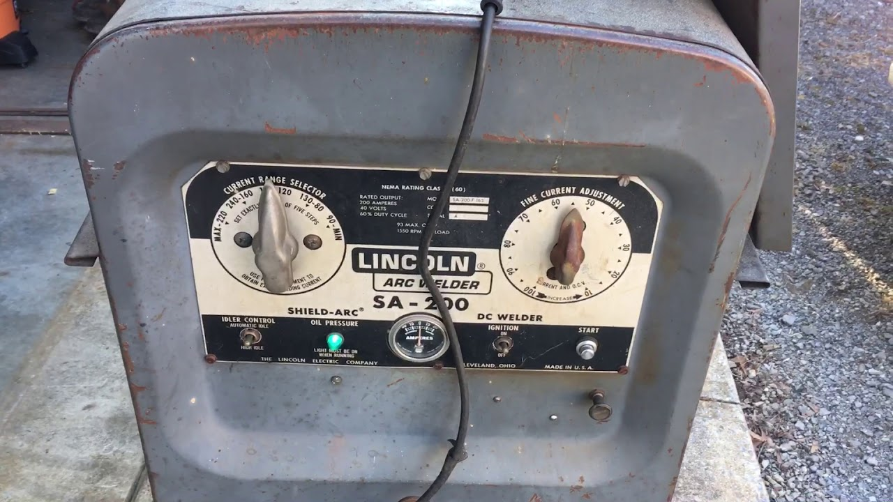 Lincoln Electric SA-200 Automatic Idle