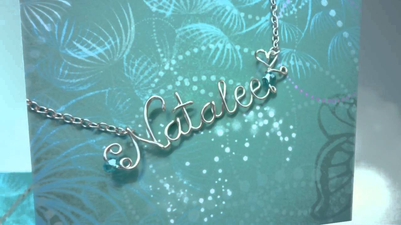 Sparkling Dragon Designs - Wire Name Necklaces - YouTube