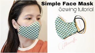 Cloth face mask sewing tutorial | How to make a face mask at home | Face mask DIY