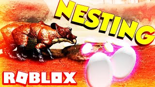 Roblox Era Of Terror (NESTING GROWTH) Dinosaurs Eggs Update