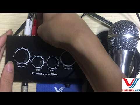 test bộ hát karaoke sound mixer