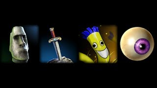 Smite - Ward Skins - East Island Head - Sword In The Stone - Wind Dancer - All Seeing Eye