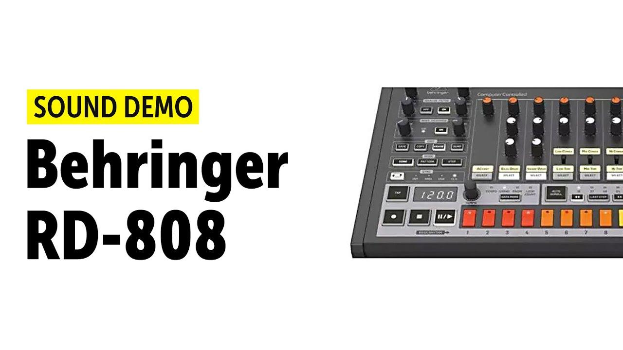 Behringer RD-808 Sound Demo (no talking)