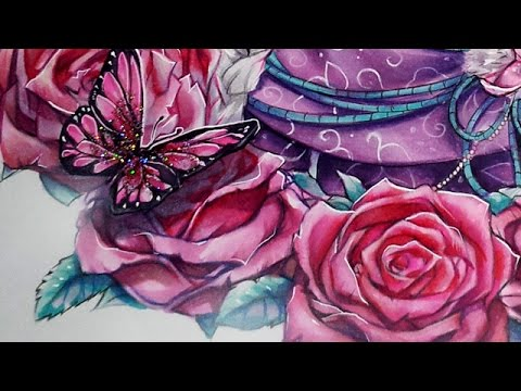 coloring roses with copic markers youtube rh youtube com Copic Coloring Techniques coloring flowers with copic markers book