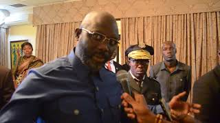 Liberia's President ( George Mannah Weah) Says he's Bring Experts From Nigeria