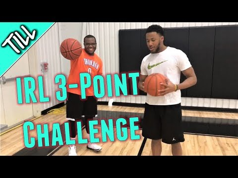 IRL Basketball 3-Point Challenge Vs College Wing Player