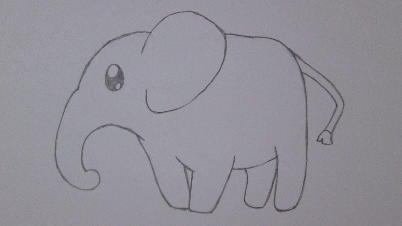 como desenhar um elefante youtube