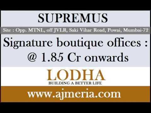 SupremusLODHA-powai-mumbai-signature-boutique-offices-commercial-property-ajmeria.com