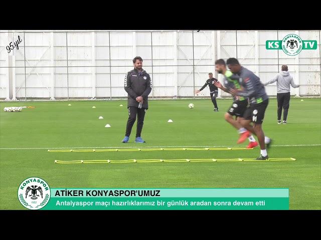 Atiker Konyaspor'umuz bir günlük aranın ardından Antalyaspor maçı hazırlıklarına devam etti