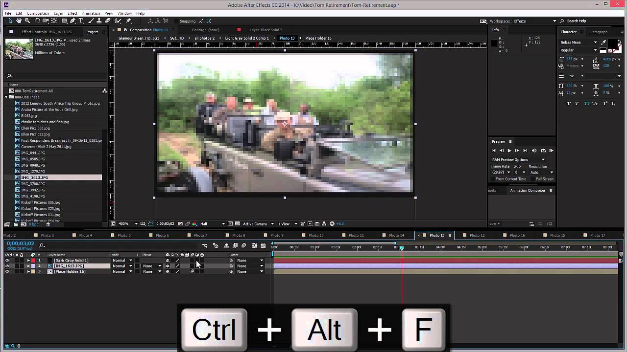 After Effects Fit an Image to Composition Size
