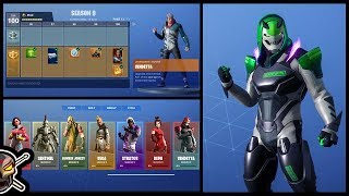 What's In The FORTNITE SEASON 9 BATTLE PASS?!